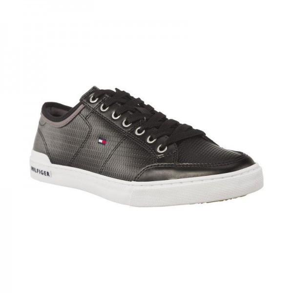 fm0fm01497-990 Tommy Hilfiger Corporate Leather Sneaker
